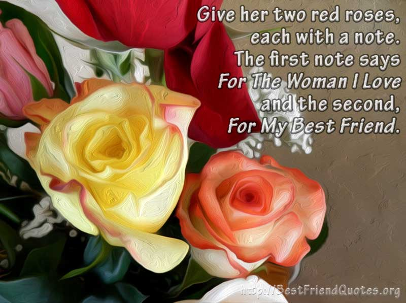 Rose For Women From Best Friend Quotes